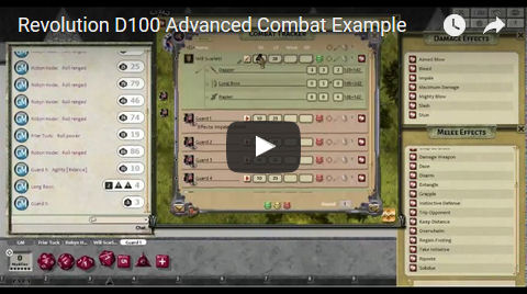 Revolution D100 Advanced Combat Example (video)